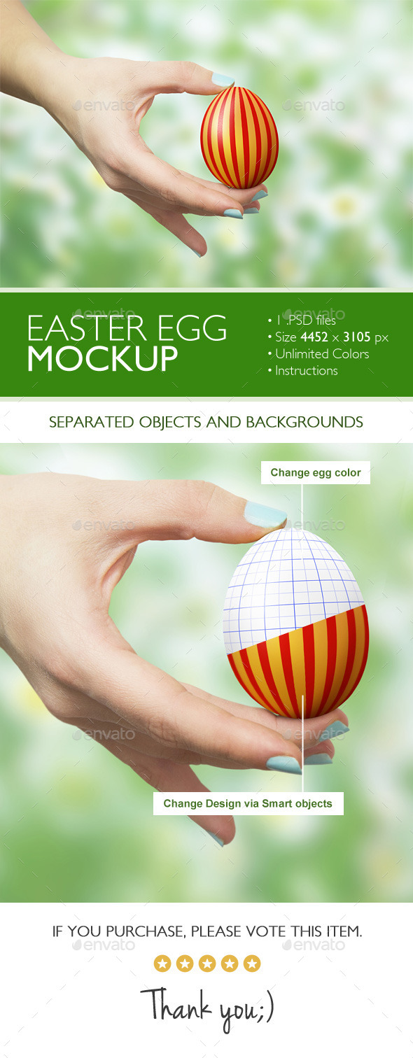 GraphicRiver Easter Egg Mockup 10981569