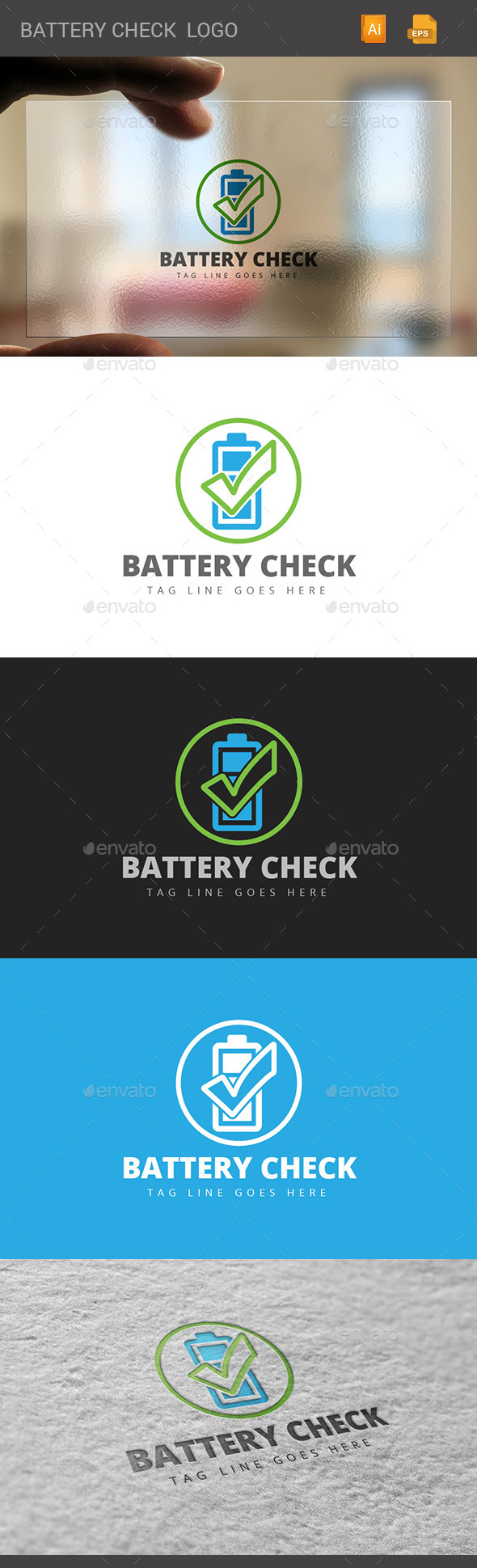 GraphicRiver Battery Check Logo 11060228
