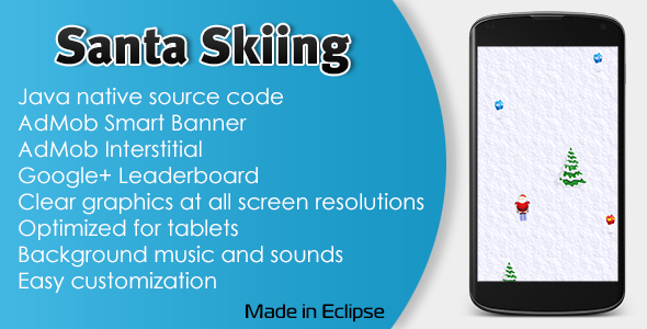 CodeCanyon Santa Skiing with AdMob and Leaderboard 11060541