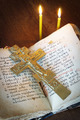 Orthodox Christian still life with old crucifixion and ancient book - PhotoDune Item for Sale