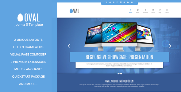 ThemeForest Vina Oval Responsive Joomla 3 One Page Template 11060942