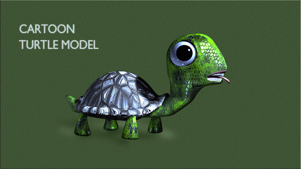 3DOcean Cartoon Turtle 11060973