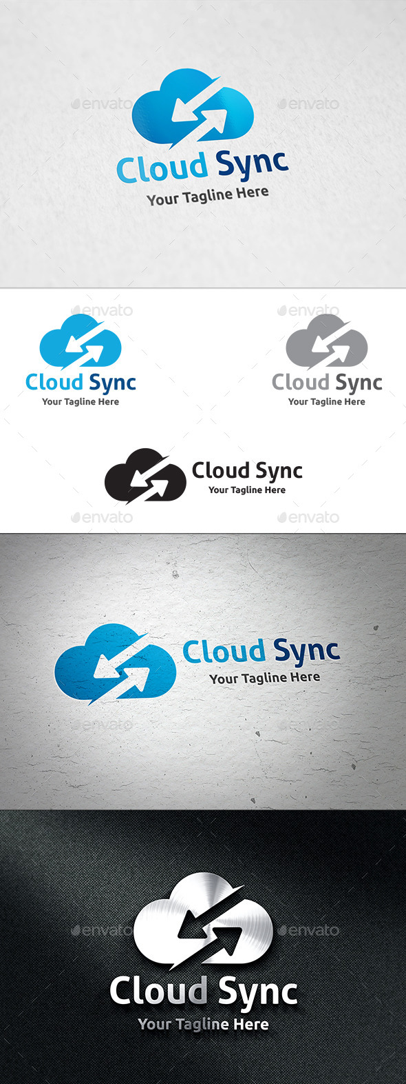 GraphicRiver Cloud Sync Logo Template 11060995