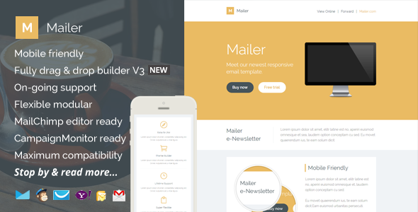 ThemeForest Mailer Responsive Email Template & Builder Access 11061143
