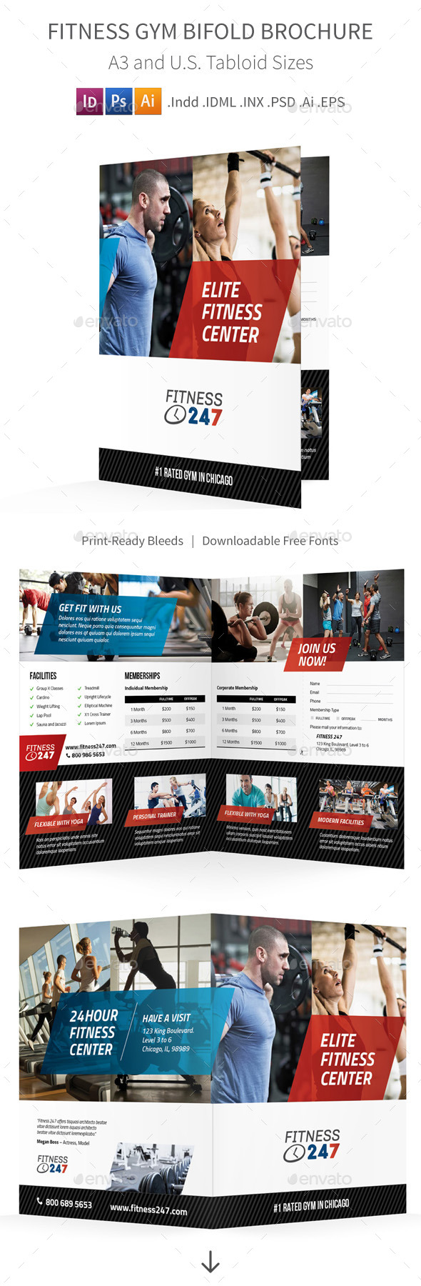 GraphicRiver Fitness Gym Bifold Halffold Brochure 11061167