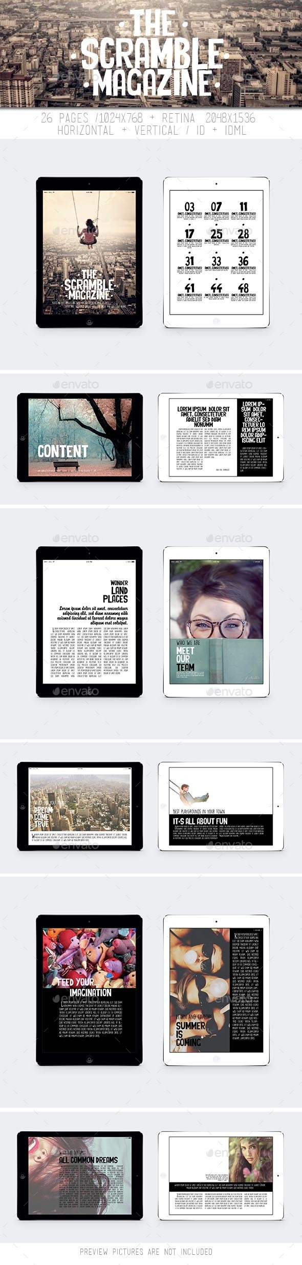 GraphicRiver Tablet The Scrumble Magazine 11061193