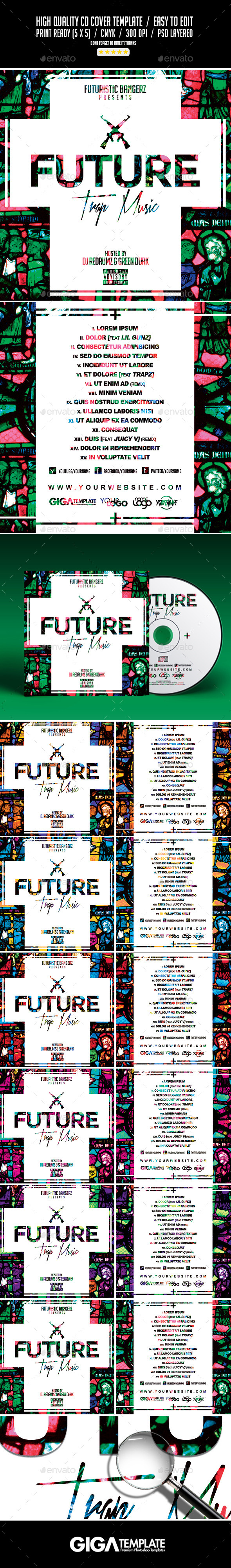 GraphicRiver Future Trap Music Mixtape Album Cover Template 11061320