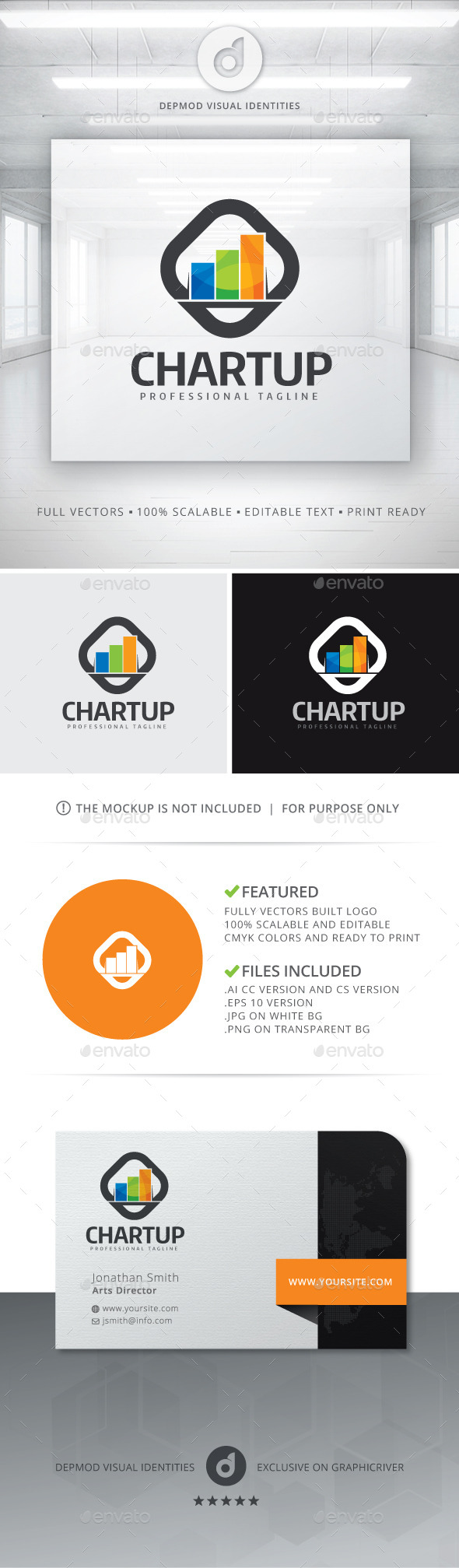 GraphicRiver Chart Up Logo 11061829