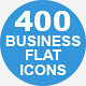 400 Business Flat Icons - GraphicRiver Item for Sale