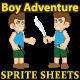 Boy Adventure Sprites Sheet