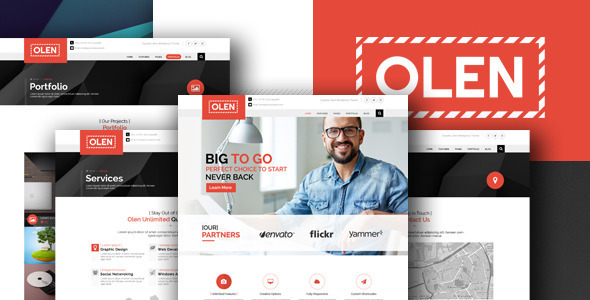 ThemeForest OLEN Multipurpose Corporate PSD Template 11005840