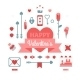 Set of Happy Valentine's Day Icons - GraphicRiver Item for Sale