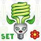 Eco Light Bulb Set - GraphicRiver Item for Sale