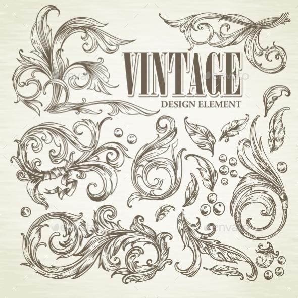 GraphicRiver Vintage Design Elements 11062752