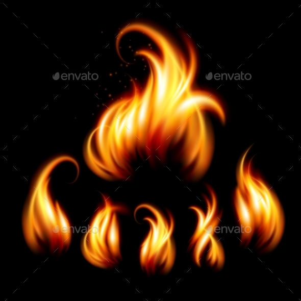 GraphicRiver Set of Realistic Fire 11062822