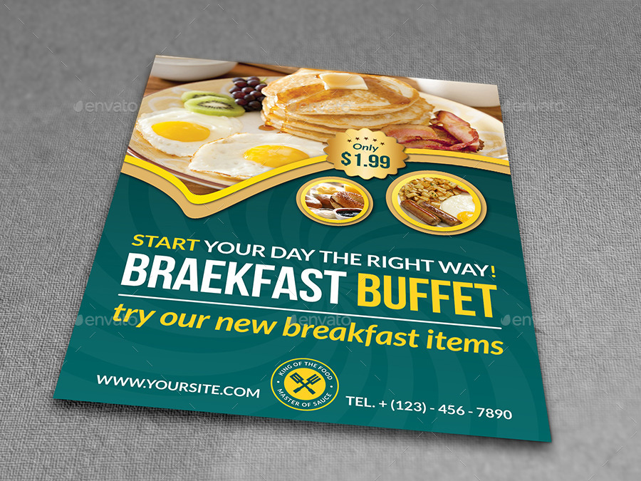 Breakfast Restaurant Flyer Template by OWPictures – Restaurant Flyers Templates