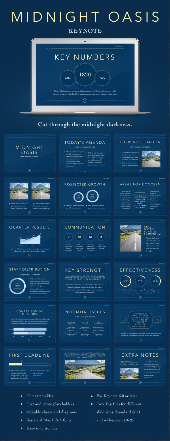 GraphicRiver Midnight Oasis PowerPoint Template 11062929