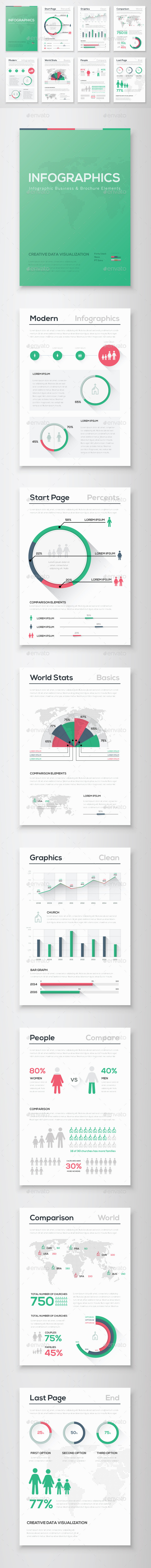 GraphicRiver Infographic Brochure Vector Elements Kit 8 11063117