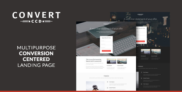 ThemeForest Convert Multipurpose CCD Landing Page 11063146