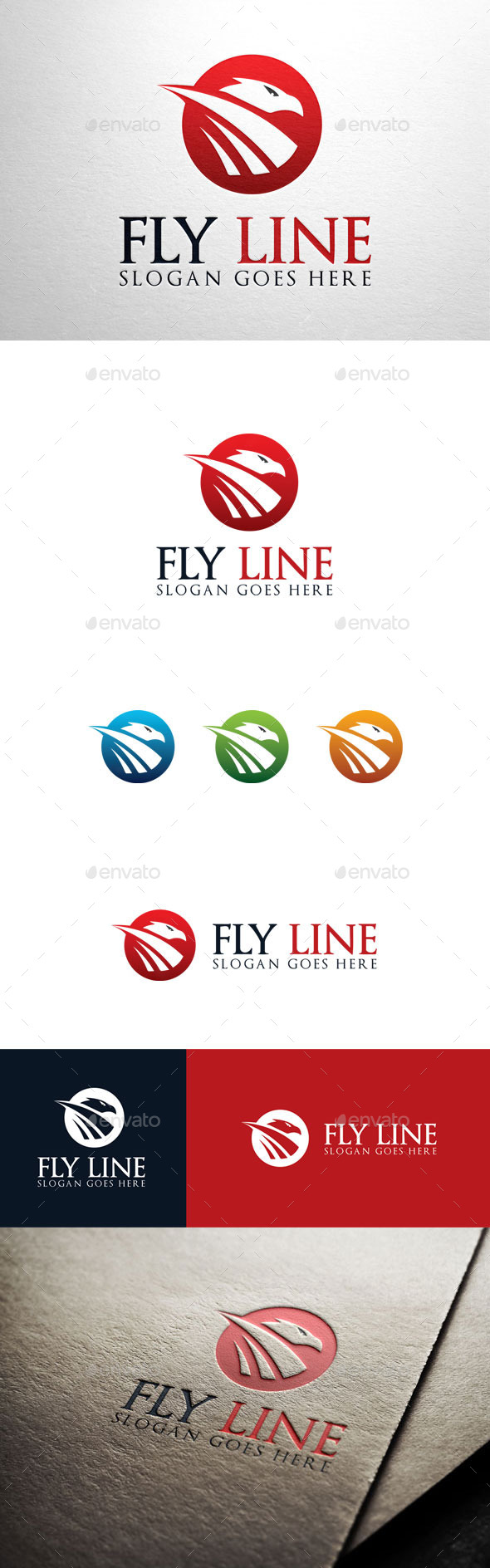 GraphicRiver Fly Line Eagle logo 11063216