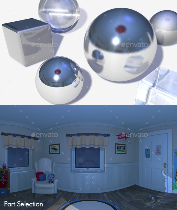 3DOcean HDRI Nighttime Bedroom 11063228