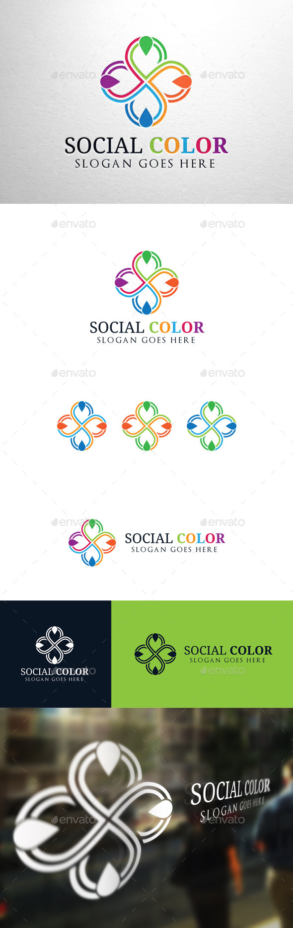 GraphicRiver Social Color Logo 11063236