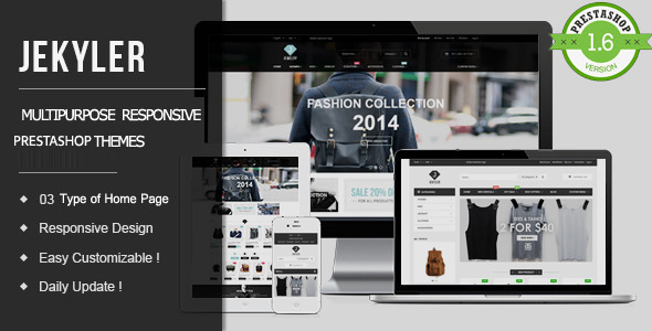 ThemeForest Jekyler Multipurpose Responsive PrestaShop Theme 11063279