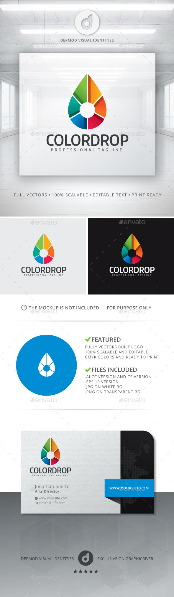 GraphicRiver Color Drop Logo 11063318