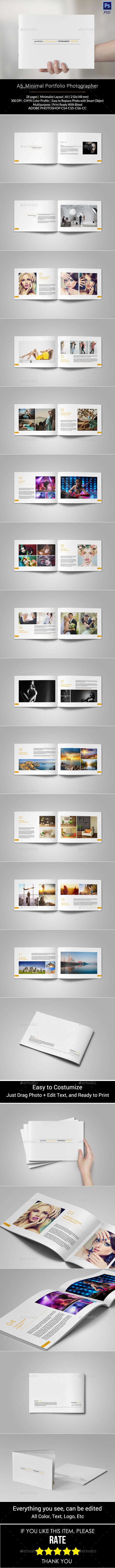 GraphicRiver A5 Minimal Portfolio 11063387
