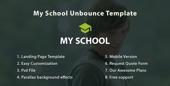 ThemeForest My School Unbounce Landing Page 11063401