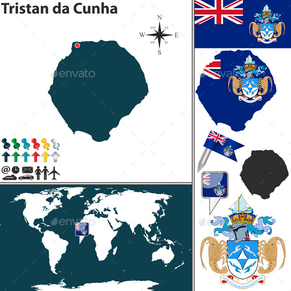 GraphicRiver Map of Tristan da Cunha 11063650