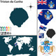 Map of Tristan da Cunha - GraphicRiver Item for Sale