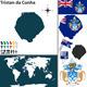 Map of Tristan da Cunha - GraphicRiver Item for Sale