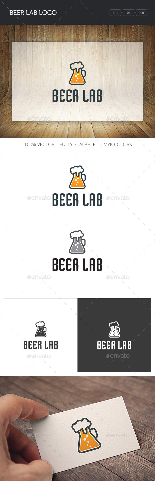 GraphicRiver Beer Lab Logo 11064020