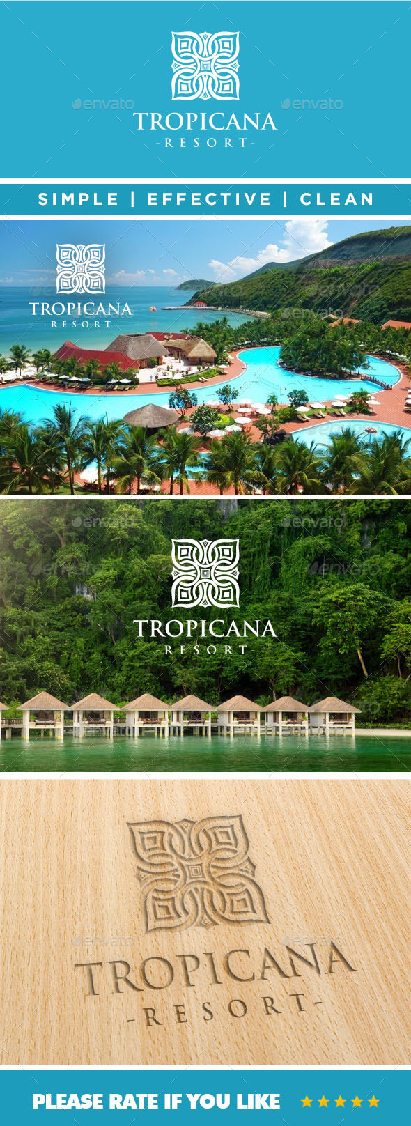 GraphicRiver Tropicana Resort Logo 11045371