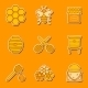 Beekeeping Icons - GraphicRiver Item for Sale
