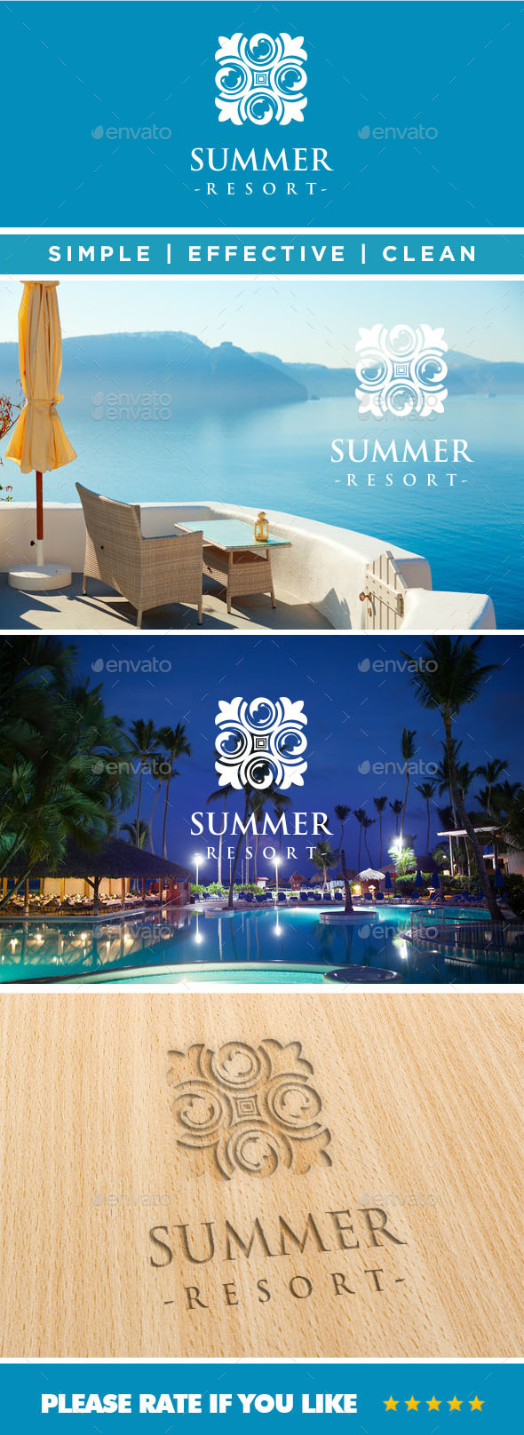 GraphicRiver Summer Resort Logo 11064122
