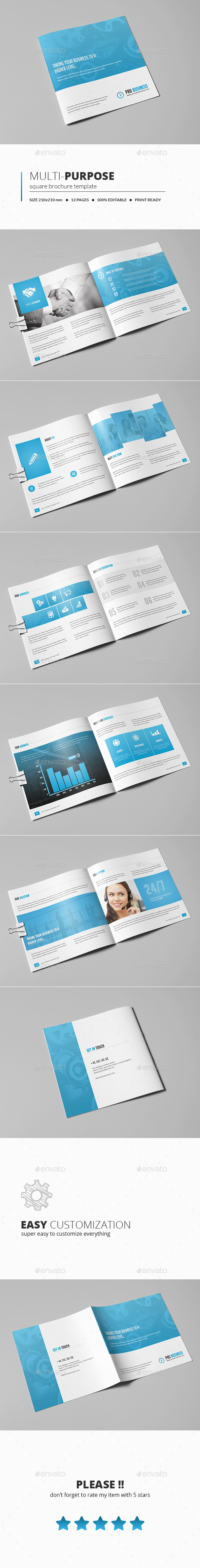 GraphicRiver Multipurpose Square Brochure 11064160