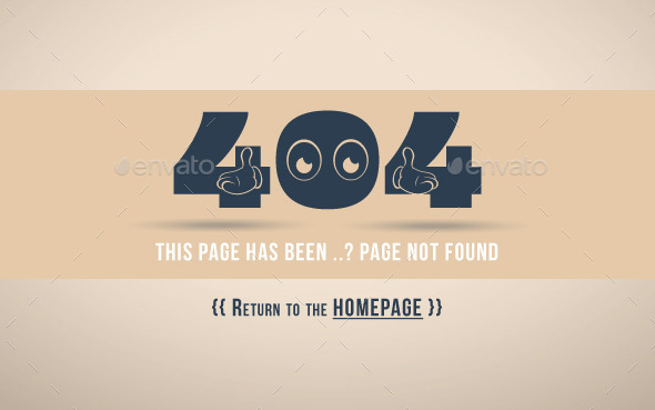 GraphicRiver 404 Error Page Oops 11064248