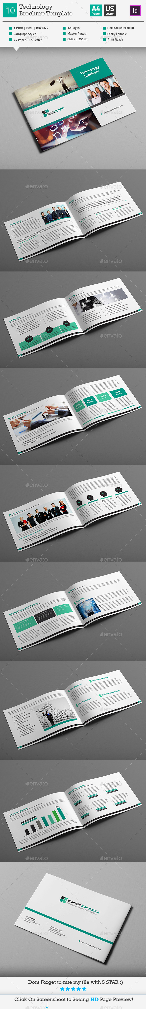 GraphicRiver Technology Landscape Brochure Template V10 11030221