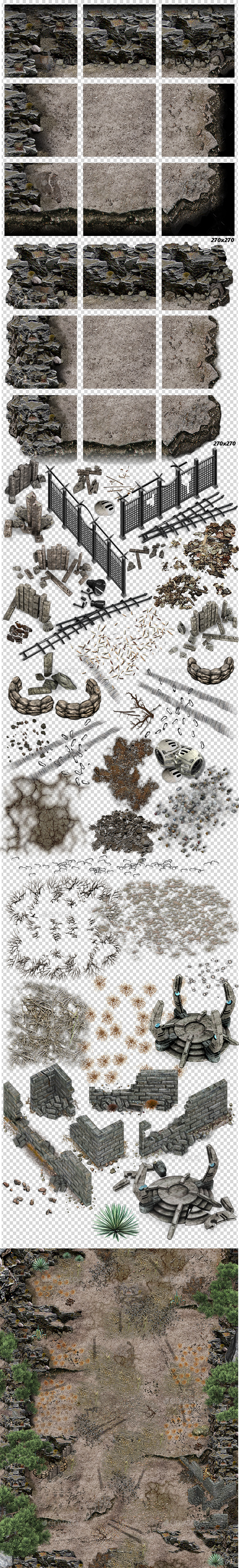 GraphicRiver Dust Tiles and Decals 11064854