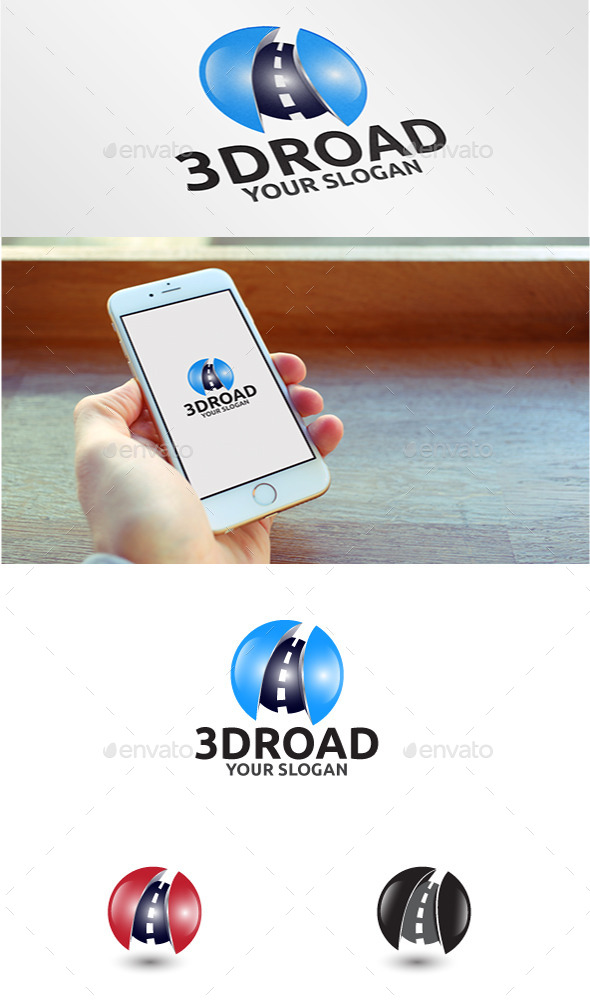 GraphicRiver 3D Road Logo 11064965