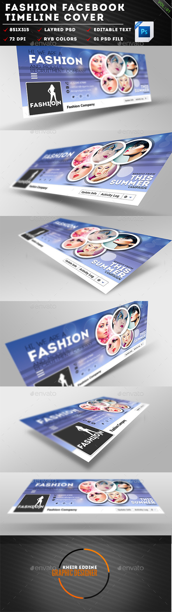 GraphicRiver Fashion Facebook Timeline Cover Vol 01 11065063