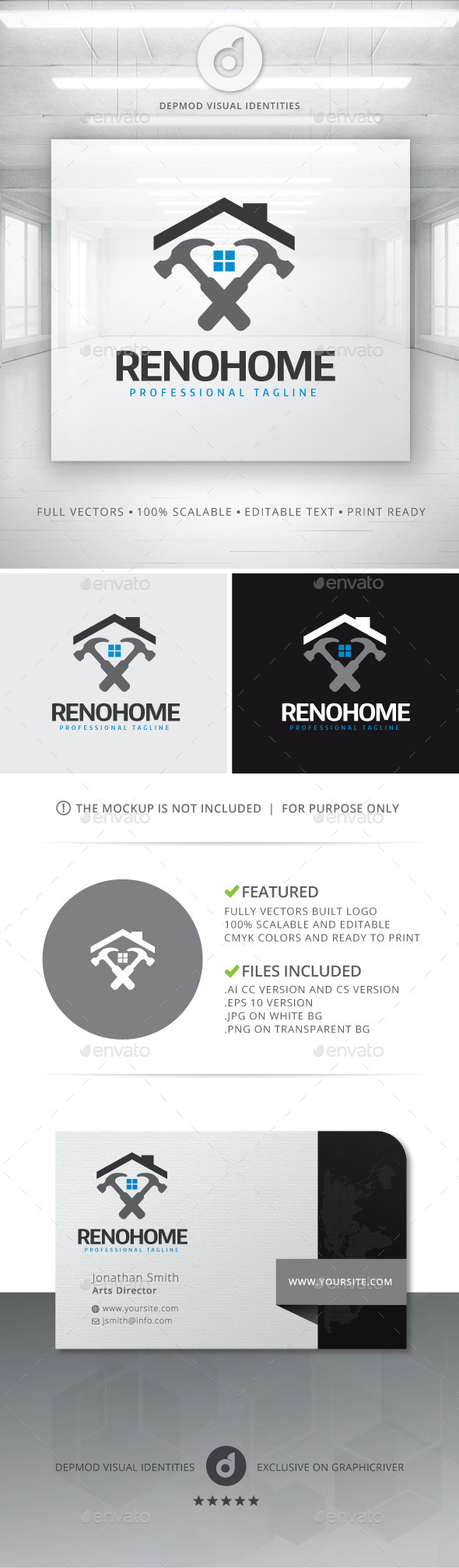 GraphicRiver Reno Home Logo 11065158