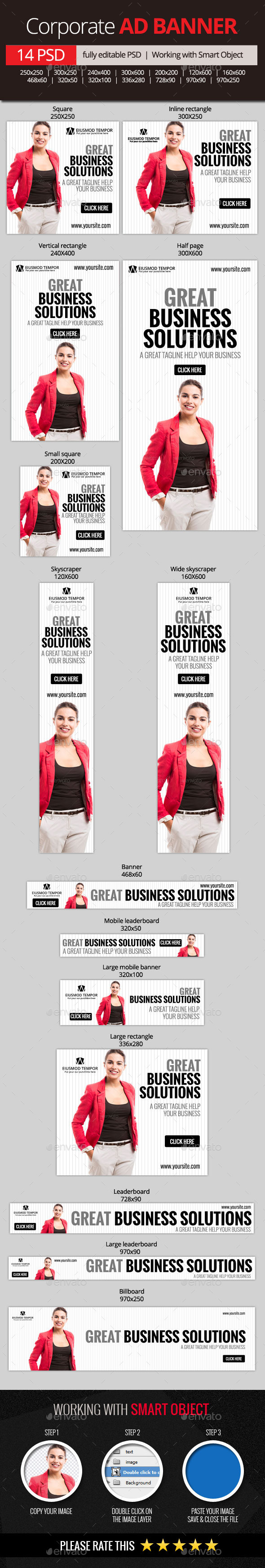 GraphicRiver Corporate and Business Web Banners 11065225
