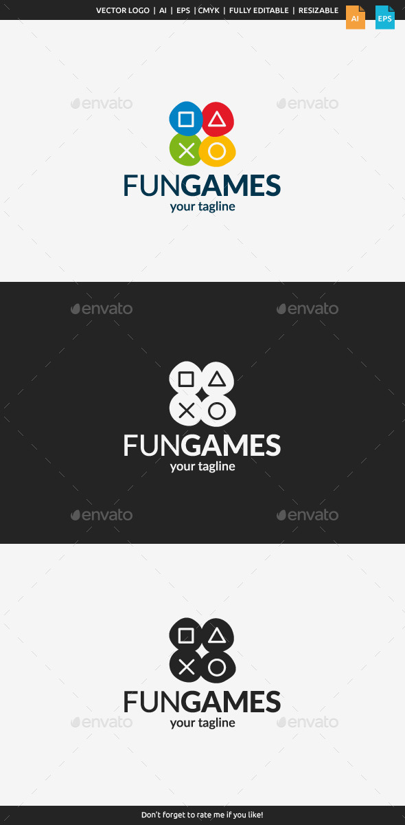 GraphicRiver Fun Games Logo 11065486
