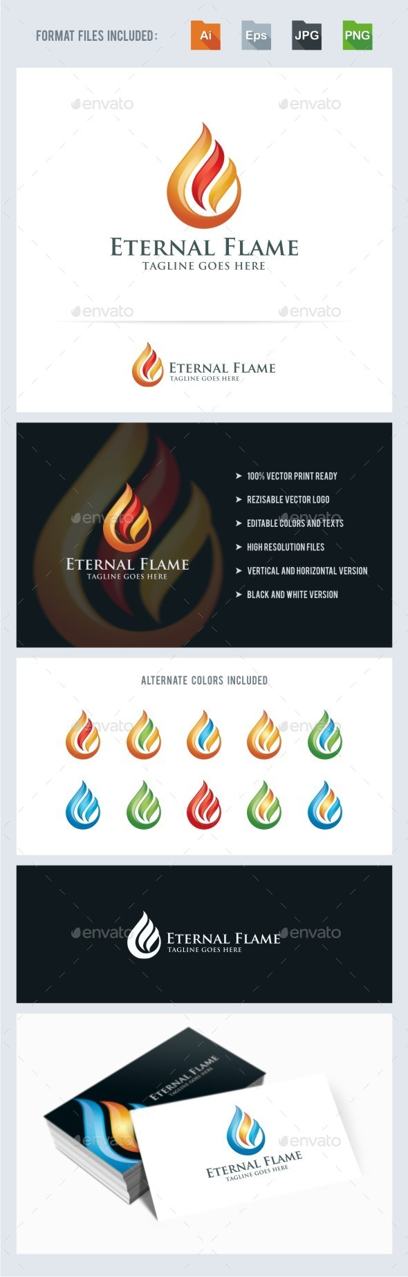 Eternal Flame Logo Template