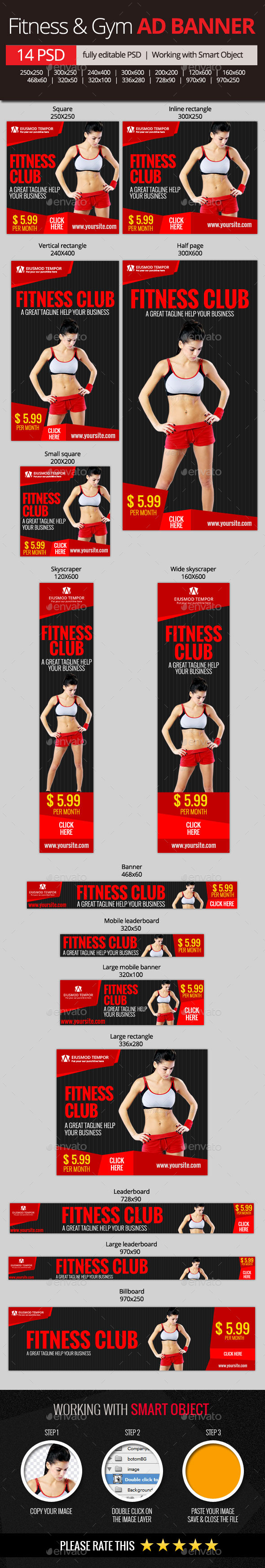 GraphicRiver Fitness & Gym Web Banners 11065505