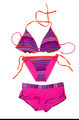 Bright fashionable swimsuit. Bra, panties and shorts. - PhotoDune Item for Sale