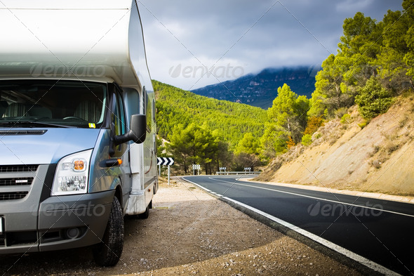 Stock Photo - PhotoDune Motor Home Near The Road 1107915